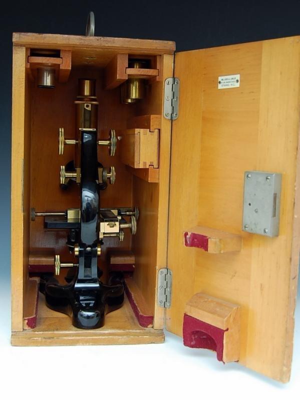 19A: Microscope, Steel, brass