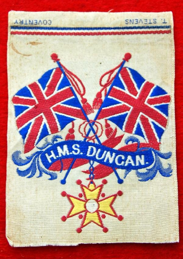 105: Silk on silk weaving - H.M.S. Duncan