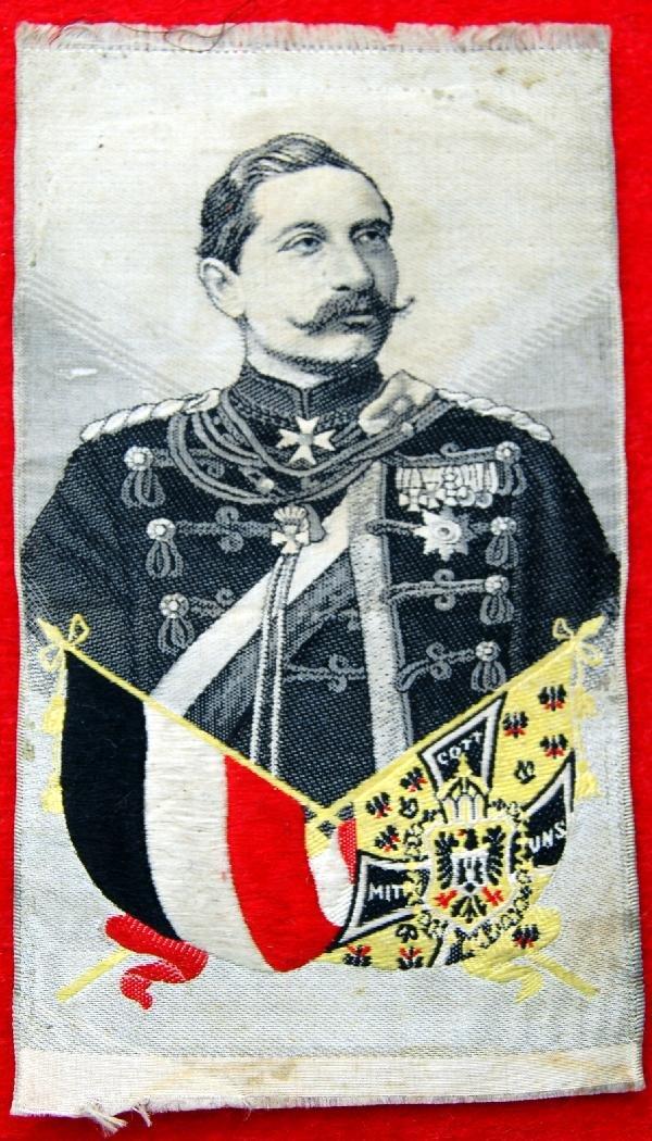 106: Silk on silk Jaiser Wilhelm II, Mitt Cott UNS
