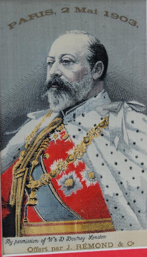 Woven silk on silk portrait of King George V