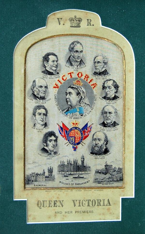 112: Stevengraph - Queen Victoria & Her Premiers