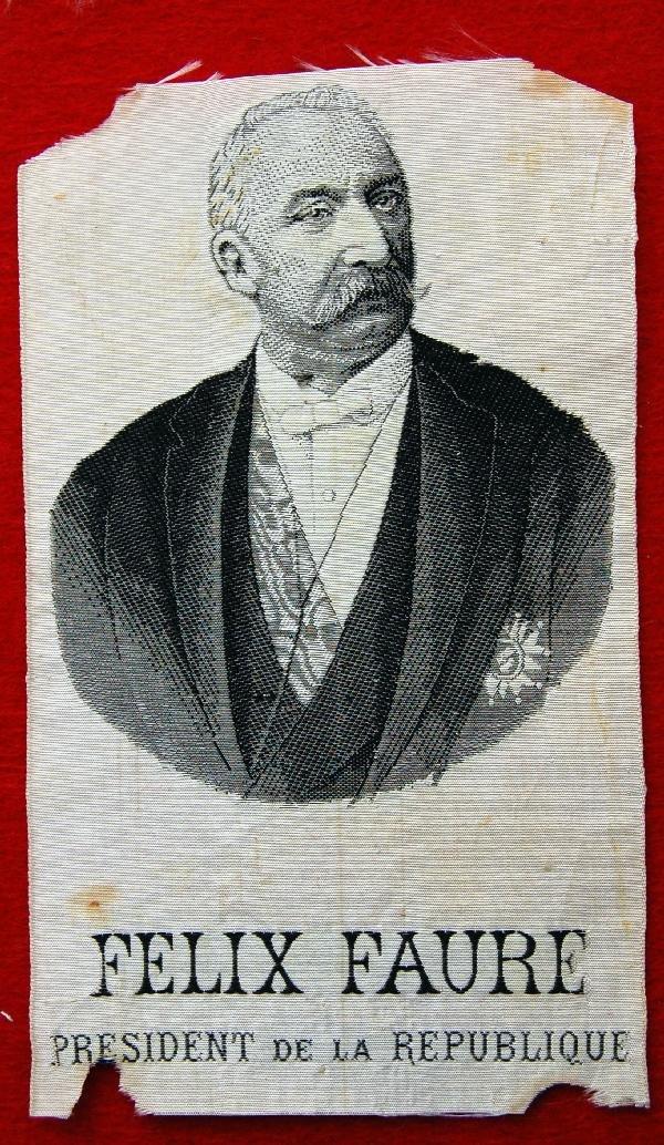 115: silk on silk weaving-Felix Faure, Pres. France