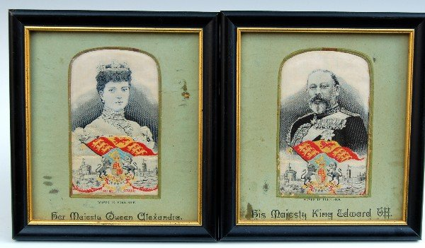 118.Silk on silk - Pr. King Edward VII, Queen Alexandra