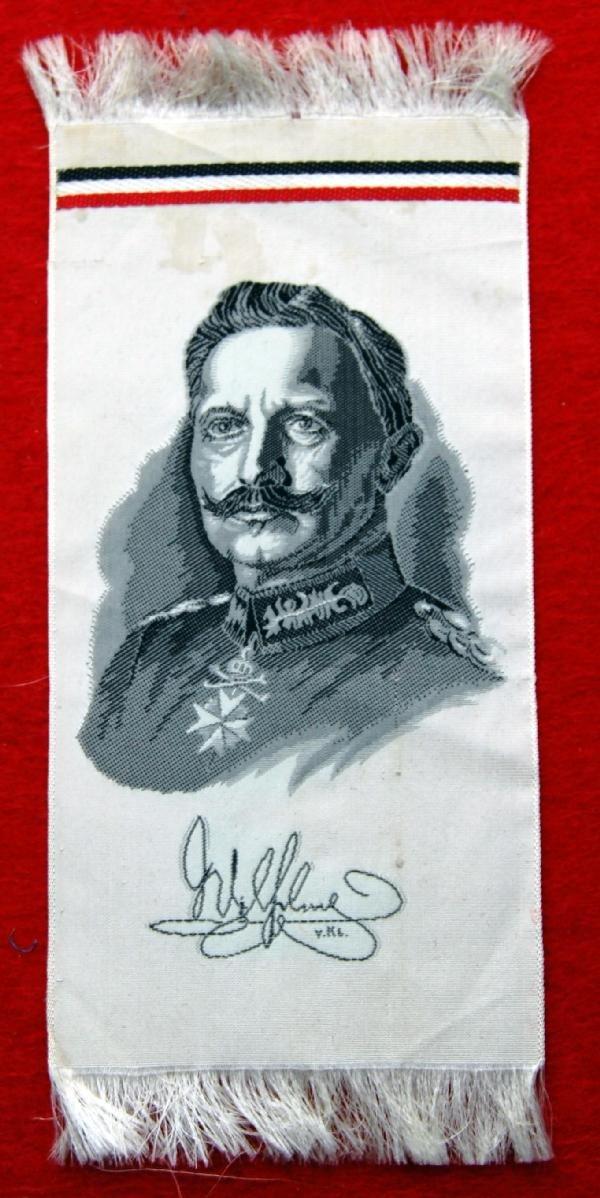 119: Silk -Kaiser Wilhelm II,  VKL/VKS/ or VKG