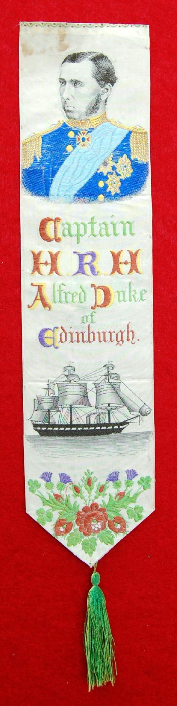 123: Stevengraph-Capt. H.R.H. Alfred Duke of Edinburgh