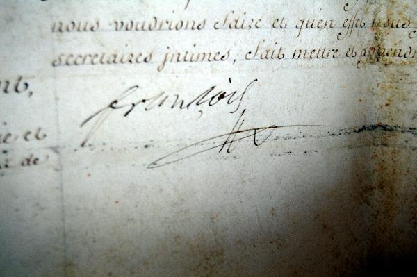 302: Signature Francis II, Holy Roman Emperor - 5