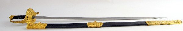 514: Sword  French Naval Officer, pre-1870