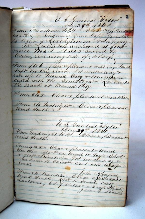 640: Log Book US Gunboat 'Taylor' (Tyler), 1861-2 - 3