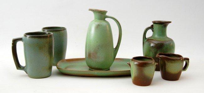 103: Art Pottery  Frankoma, 7 pcs