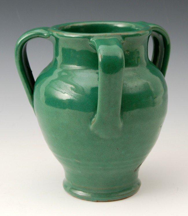 106: Art Pottery - 3-Handled Vase