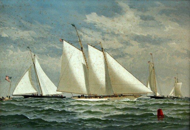 275: Chromos (26) American Yachting, Cozzens 1884