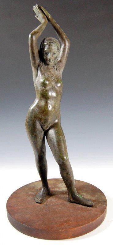 406: Bronze, Standing Nude by Joe Brown, 1909-85