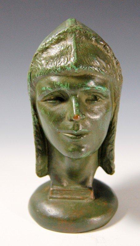"412: Bronze, 'Amelia Earhart by Anna Ladd, 1878-1939"""