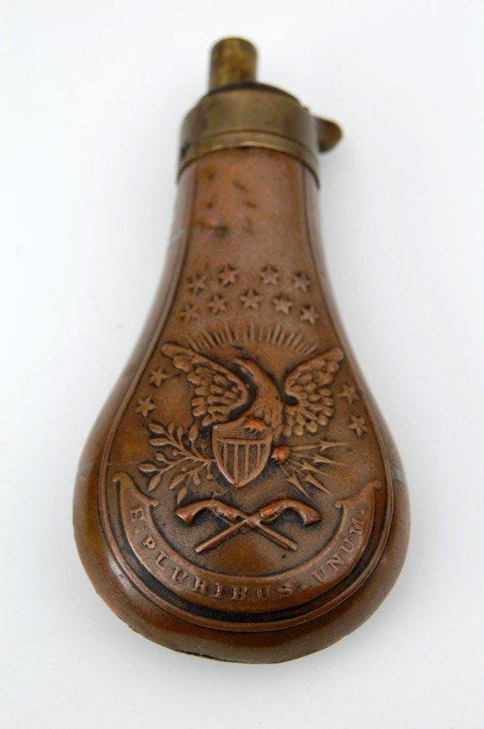 """426: Powder Flask, 4 Eagle E Pluribus Unum #1"""""""