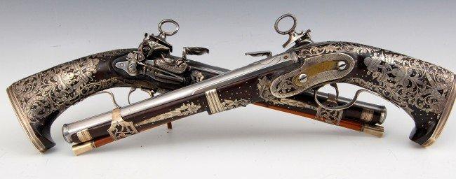 646: Pistols, Pr. Miquelet Locks, Spanish c.1775
