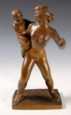 "411: Bronze ""Listen"" by Harry Rosin, 1897-1973"