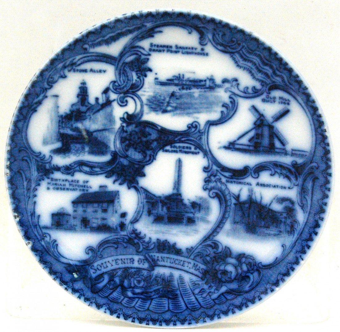 110: Souvenir Plate, Nantucket, Made in England Souveni