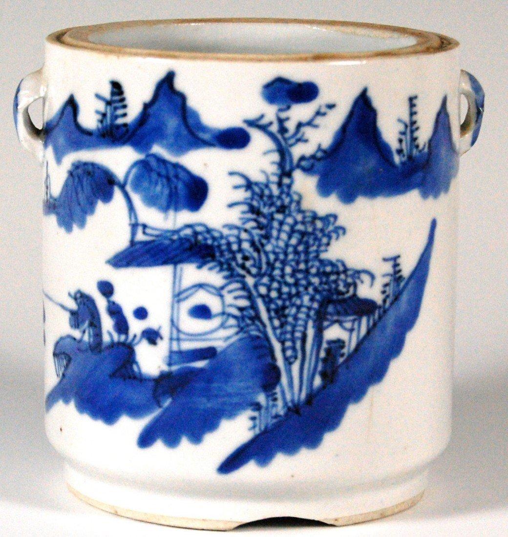 113: Canton Jar Canton Porcelain Jar, No Lid. 19th c.