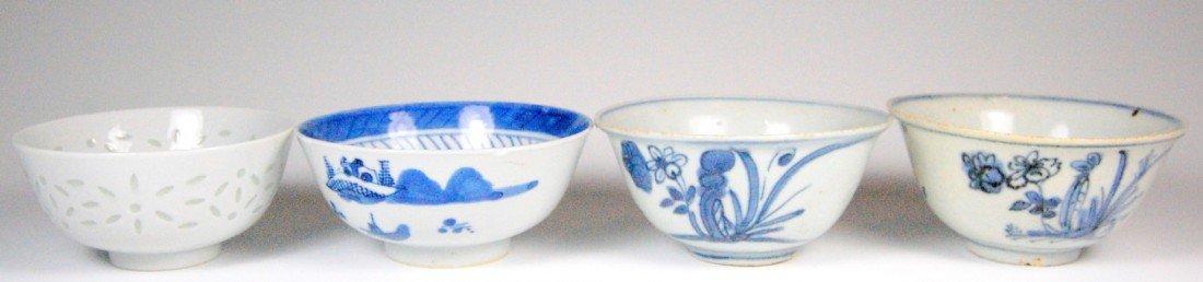 115: (4) Canton Bowls Four Canton porcelain bowls, 19th