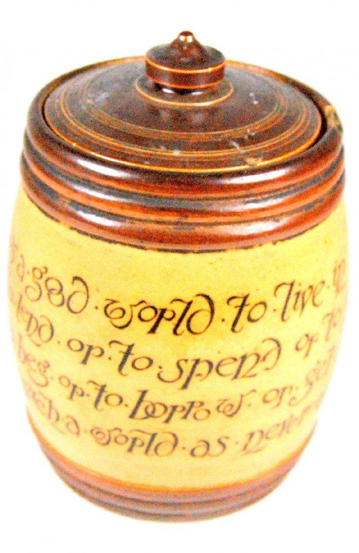 118: Tobacco Jar, Royal Doultan, Stoneware Tobacco jar