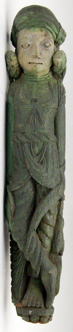 124: Figurehead carving, Lignum Vitae, Asian Carving of