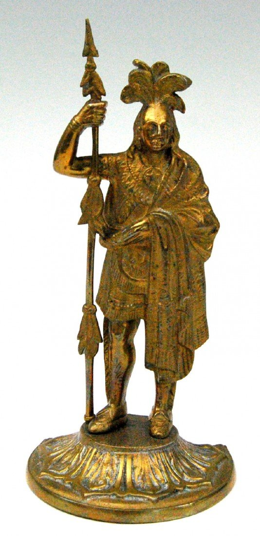 621: Statuette, Amer. Indian Warrior 'King Phillip' Sta