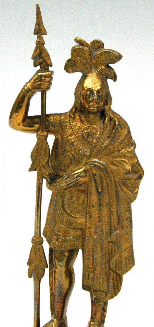 621: Statuette, Amer. Indian Warrior 'King Phillip' Sta - 2