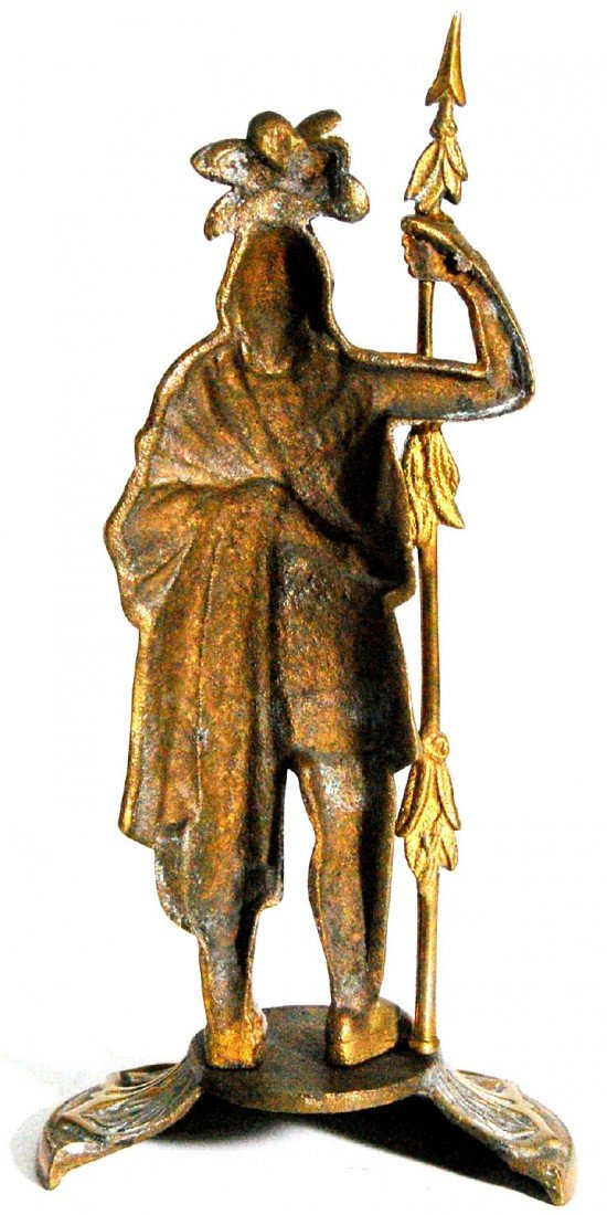 621: Statuette, Amer. Indian Warrior 'King Phillip' Sta - 3