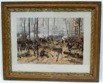 772 Civil War Print Battle Shiloh Origby Thulstrup Ci