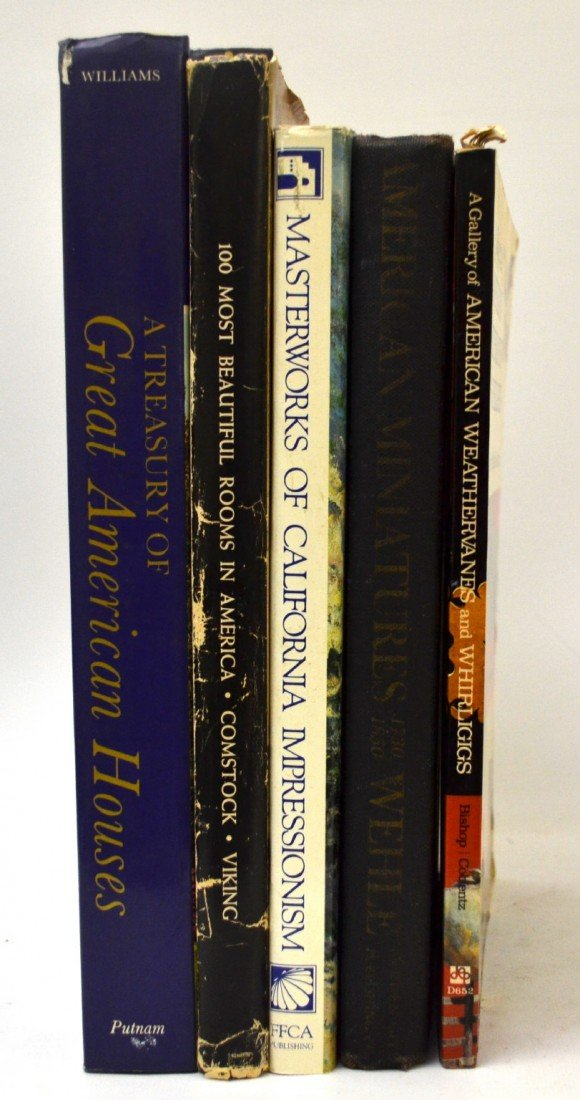 105: Books, 5 reference miniatures, folk art, home