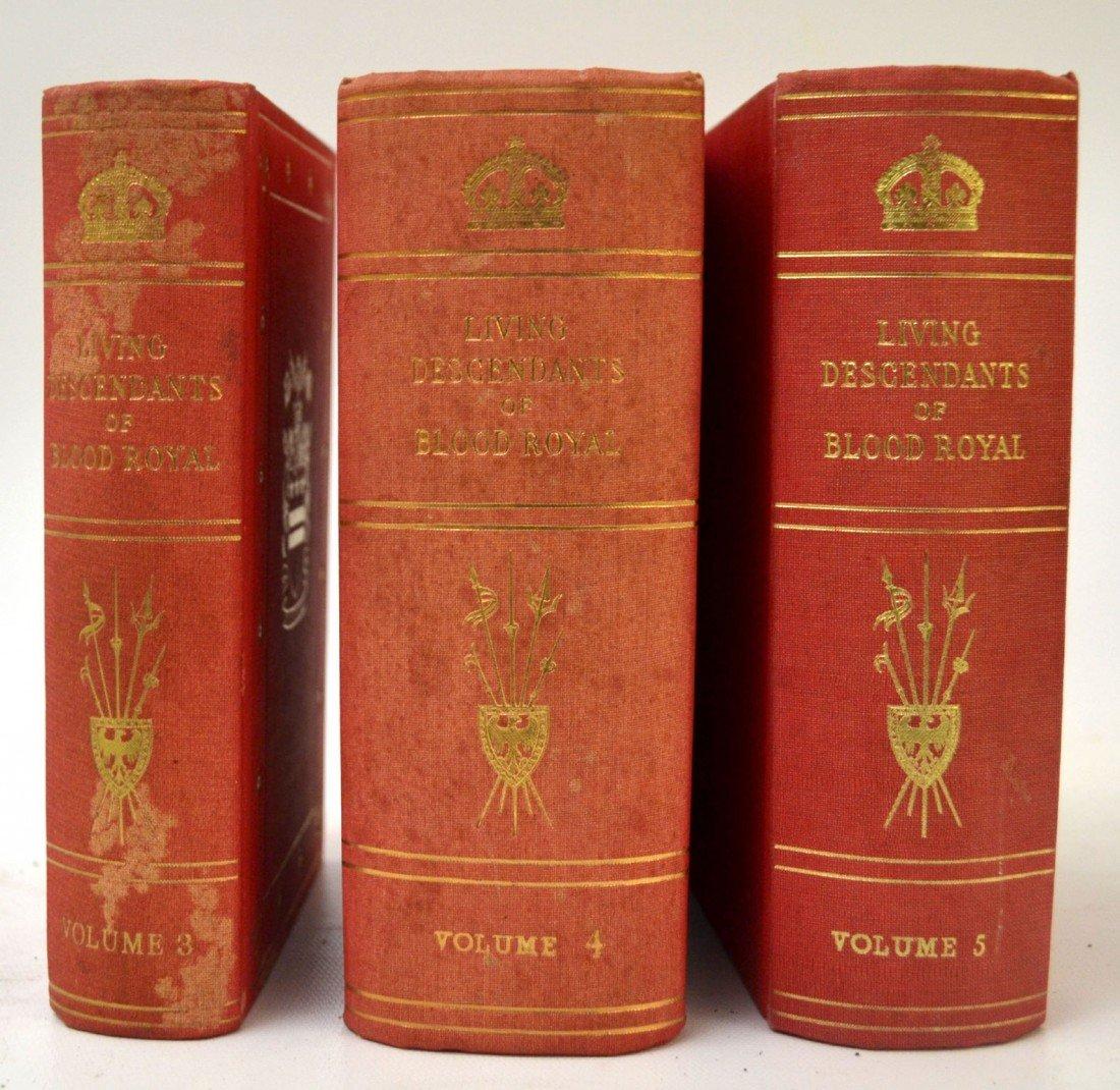 106: Books, 3 vol 'Living Descendants of Blood Royal'