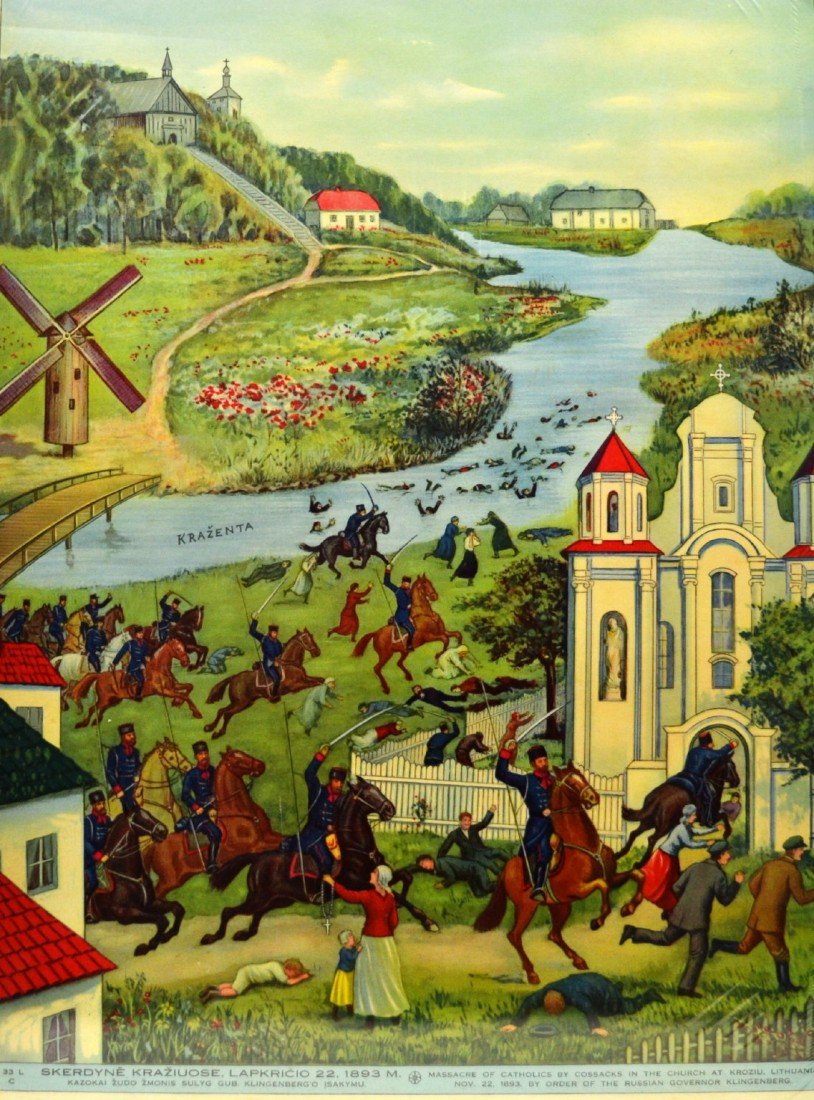 110: Poster, 'Massacre of Catholics', 1893 Lithuania