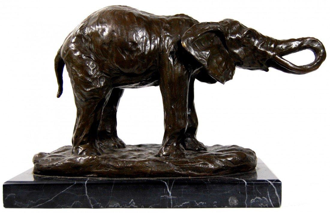 116: Bronze Elephant, signed Milo