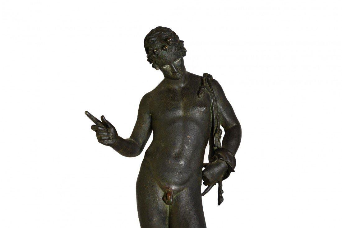 117: Chiurazzi bronze figure of Narcissus, c. 1899 - 5