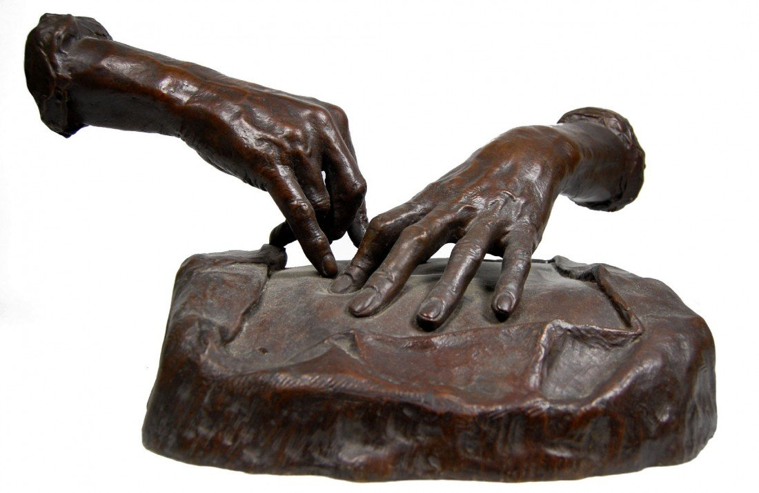 121: Large Bronze, Hands of a Surgeon