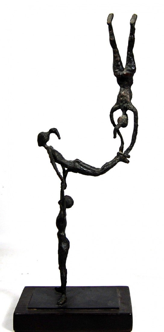 122: Acrobats, Bronze, possibly Kenneth Armitage, 1965