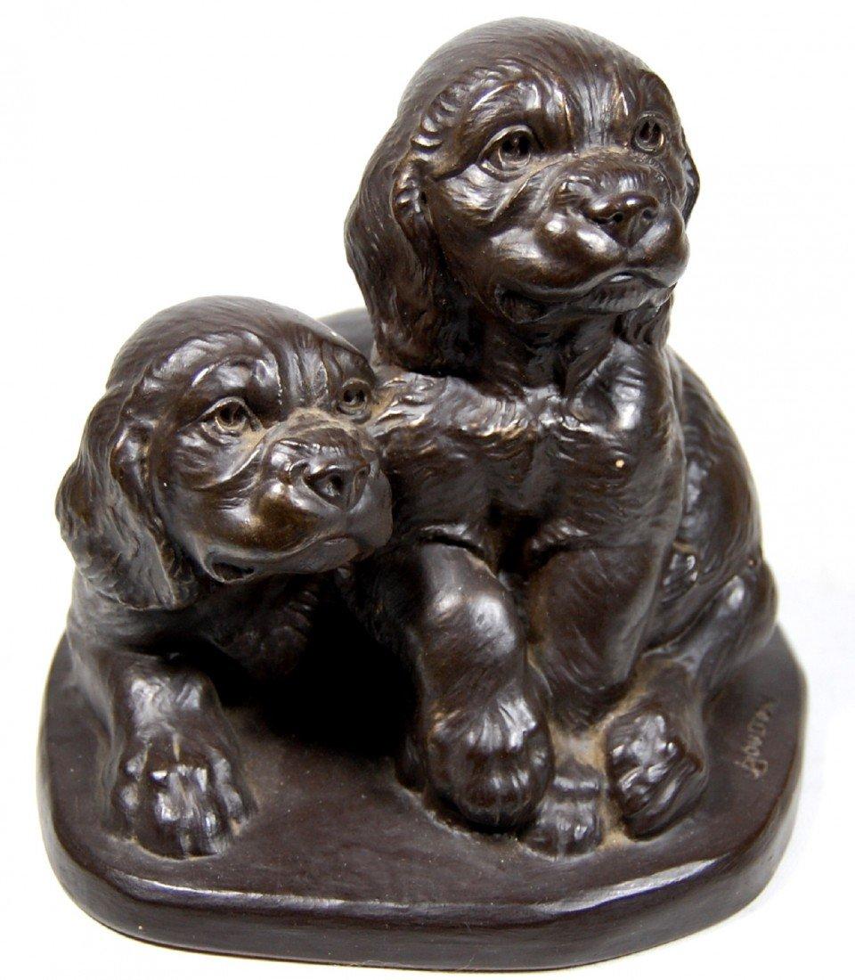 123: Two Cocker Spaniel pups by Joseph Boulton