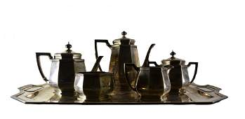 205: Tiffany Sterling Tea & Coffee Service, 6 pc, 1911