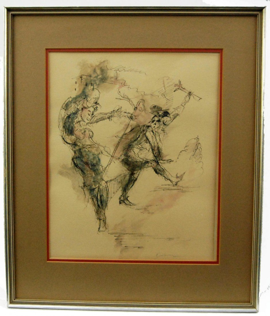 305: Lithograph w/ watercolor Ernst Ludwig  Kirchner - 2