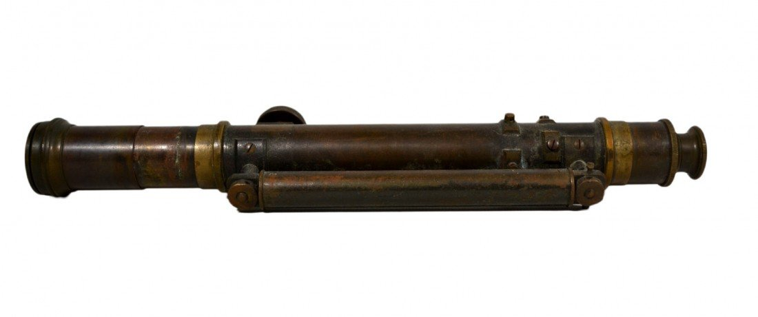 521: Surveyor's Transit with Level, Brass, 1800s - 3