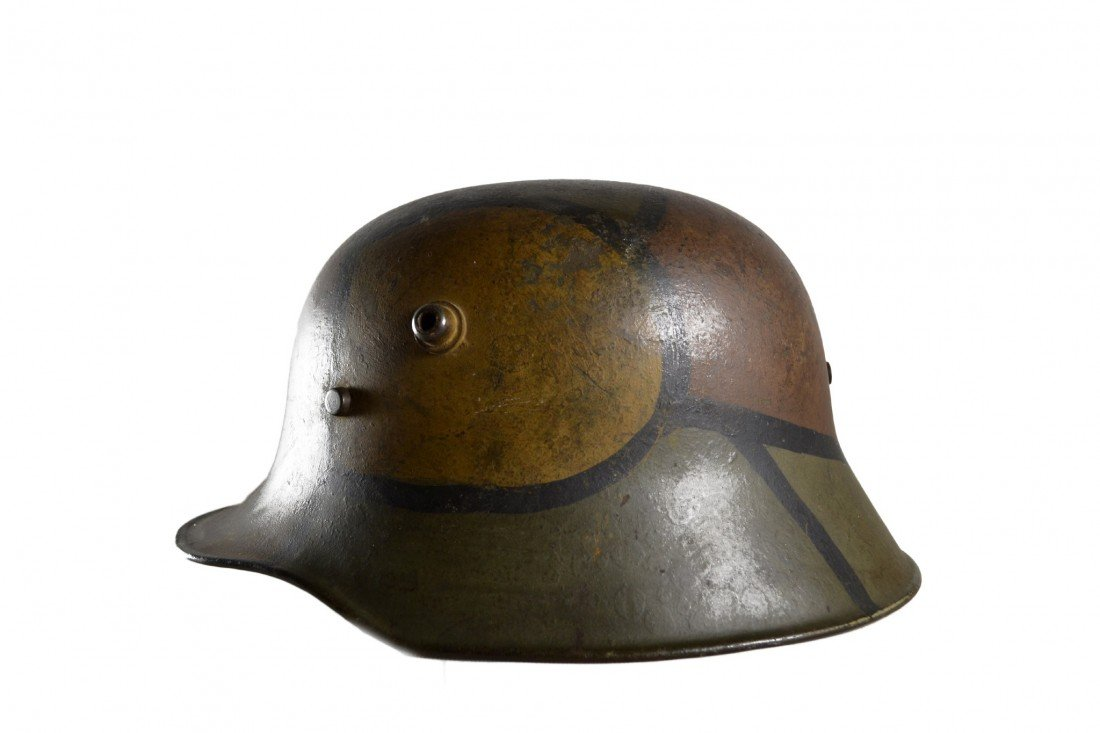 525: Helmet, German M1916, Camouflage, WWI era