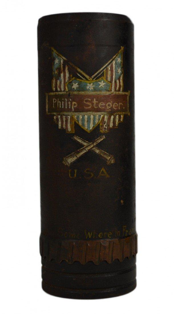 547: Trench Art - Artillery, USA artwork, WW1 era