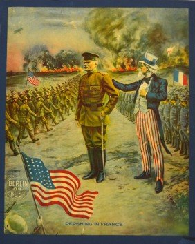 Poster, 'Berlin Or Bust', Pershing & Uncle Sam