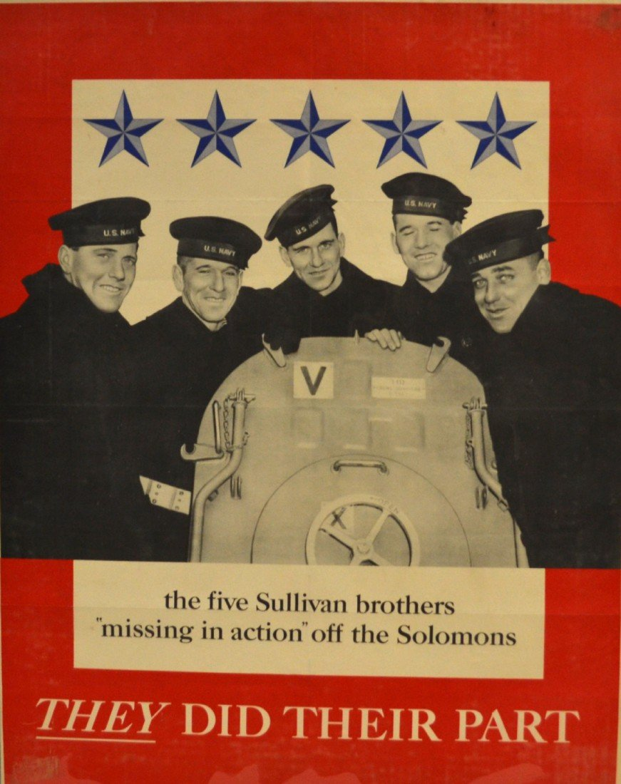 573: Poster, WWII era Five Sullivan Brothers