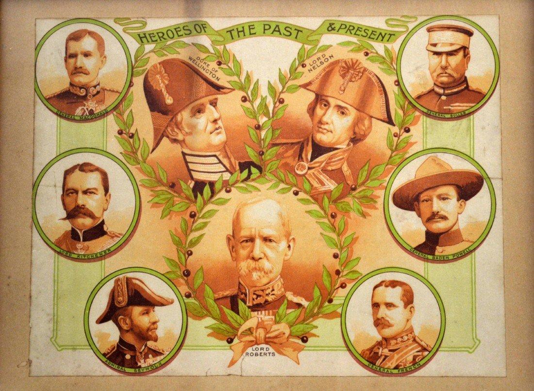 577: Heroes of British Military History framed chromo