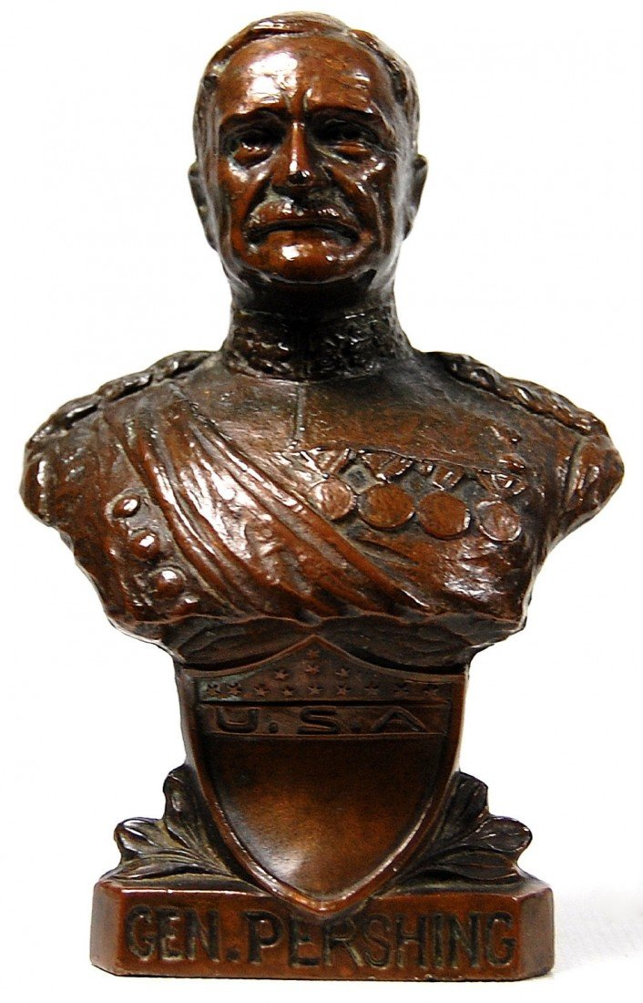 582: Sculpture, Bust of General J. Pershing by Barth