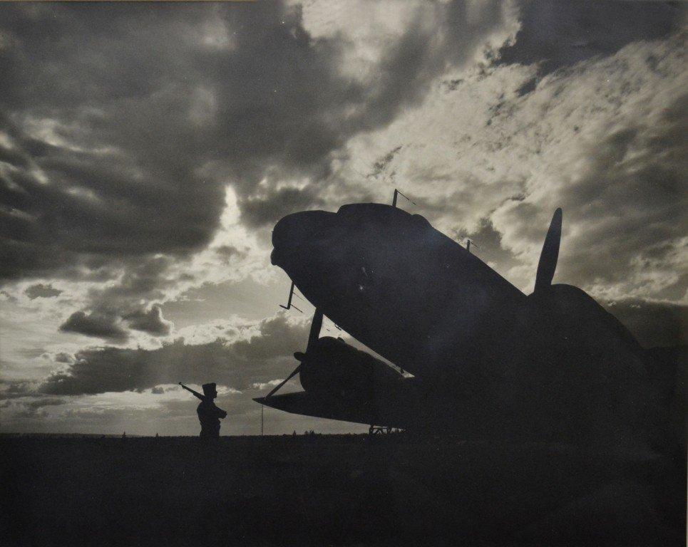 587: B/W Photo -1944, Sentry Guarding Airfield