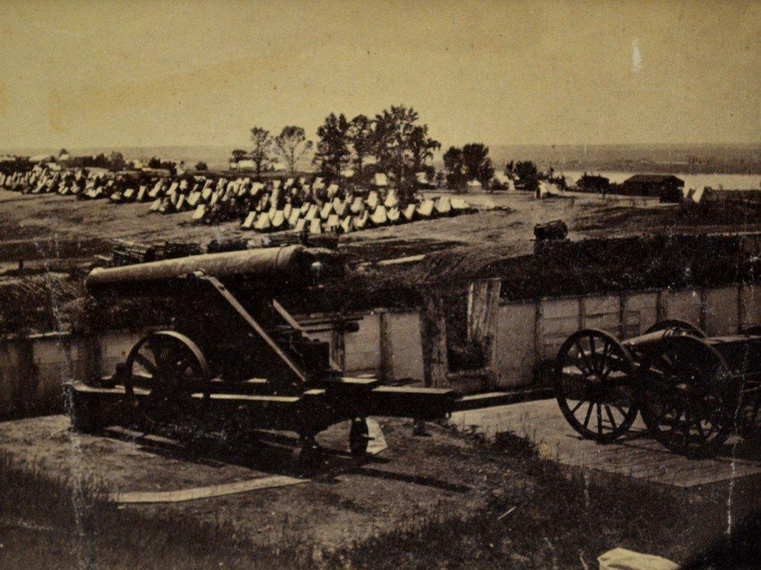 588: Albumen, Confederate Guns,  Civil War