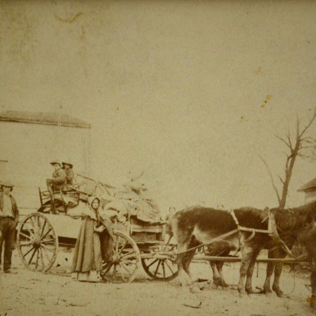 591: Albumen Photo Departure from Homestead, Civil War