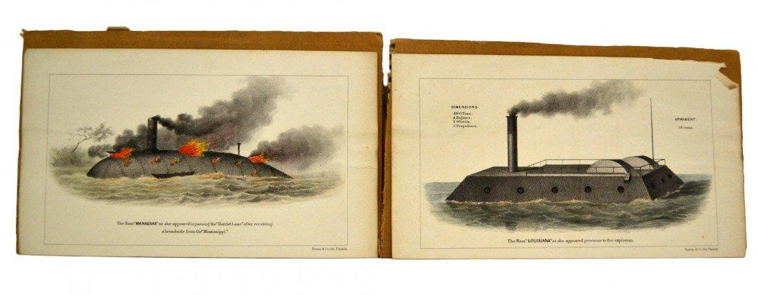 594: Engravings, 2 - The Ram 'Manassas' & 'Louisiana'